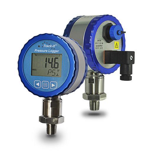 Data Logging Pressure Gauge : Track it™ pressure transmitter data logger with display